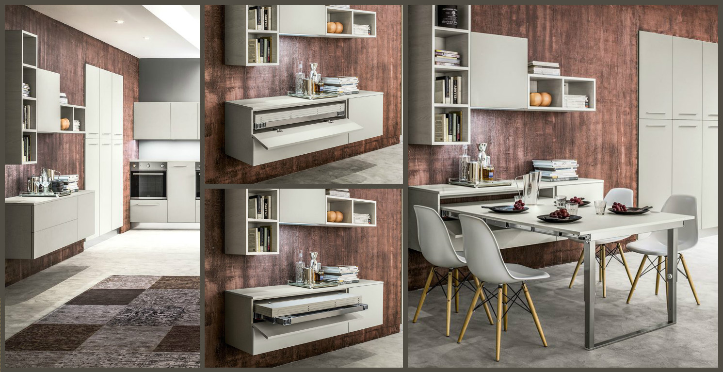 Best Cucine Con Tavolo A Scomparsa Ideas - Ideas & Design 2017 ...